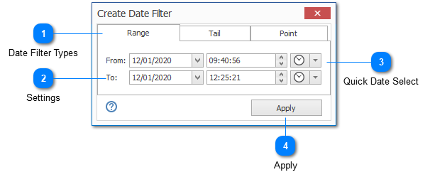 Date Time Filter